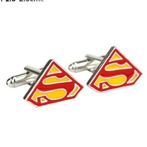 Superman Cufflinks Men Dress Suit